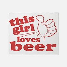 This Girl Loves Beer Throw Blanket