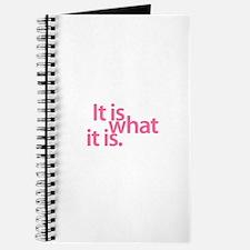 """""""It is what it is"""" Journal"""