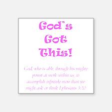 """Gods Got This Square Sticker 3"""" x 3"""""""