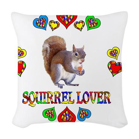 Squirrel Lover Woven Throw Pillow