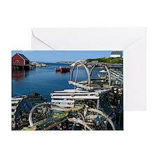 Bar Harbor Maine- sq.  Greeting Card