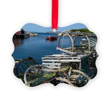 Bar Harbor Maine- sq.  Ornament