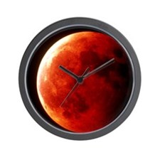 Total eclipse of the Moon in October 19 Wall Clock