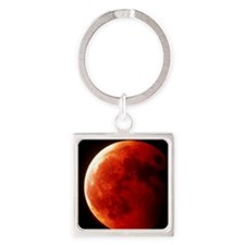 Total eclipse of the Moon in Octob Square Keychain