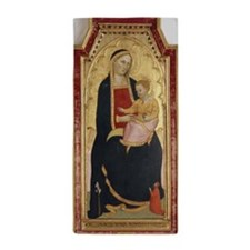Antique Painting of Madonna and Child Beach Towel