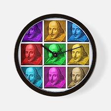 Pop Art Shakespeare Wall Clock