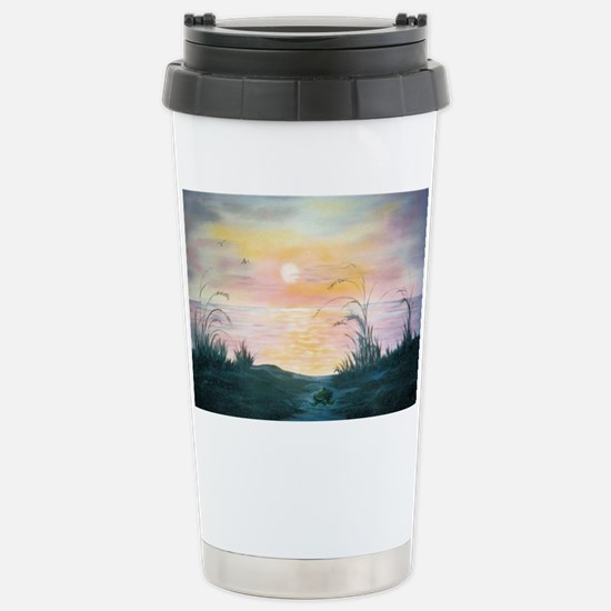 Sunset Over the Dunes Stainless Steel Travel Mug