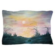 Sunset Over the Dunes Pillow Case