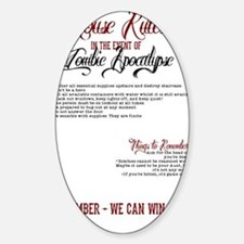 Zombie Apocalypse House Rules Sticker (Oval)