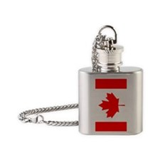 Flag of Canada Flask Necklace