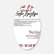 Zombie Apocalypse House Rules Oval Car Magnet