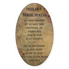 Freelance Zombie Hunter Advert Decal