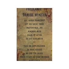Freelance Zombie Hunter Advert Rectangle Magnet