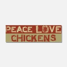 Cute Peace love Car Magnet 10 x 3