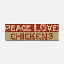 Cute Chickens Car Magnet 10 x 3