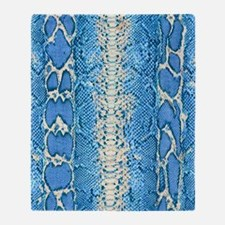 Blue Snake Skin Throw Blanket