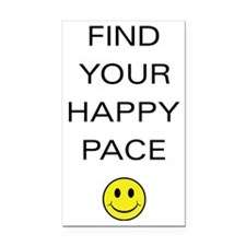 Find Your Happy Pace Rectangle Car Magnet
