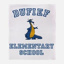 DuFief Elementary Dragon Throw Blanket