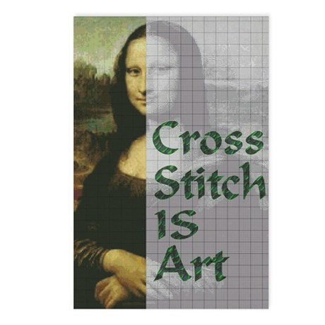 Cross Stitch IS Art Postcards (Package of 8)