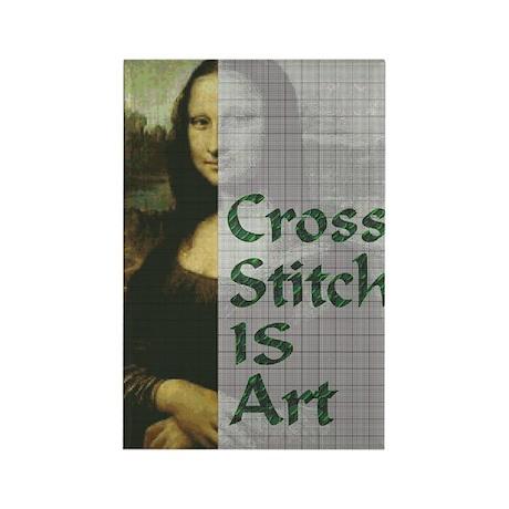 Cross Stitch IS Art Rectangle Magnet