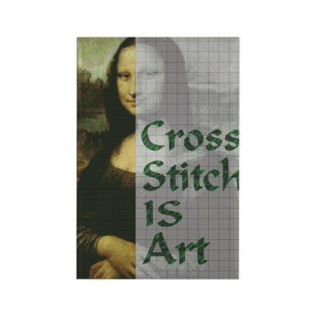 Cross Stitch IS Art Rectangle Magnet (10 pack)