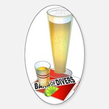Band of Divers Beer Shot Sticker (Oval)