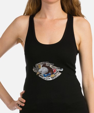 Freedom Isnt Free But Its Worth Racerback Tank Top