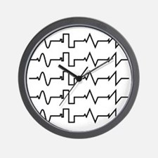 HeartzBeat EKG [BLACK] Wall Clock