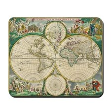 World Map 1670 Mousepad