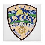 Lyon County Sheriff Tile Coaster