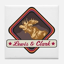 Lewis  Clark Pop-Moose Patch Tile Coaster