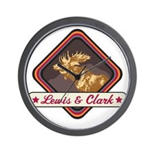 Lewis  Clark Pop-Moose Patch Wall Clock