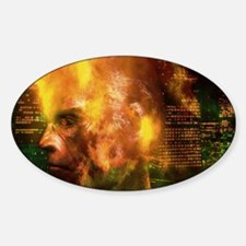 Urban violence: man's face in flame Decal