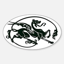 Hippogriff Oval Decal