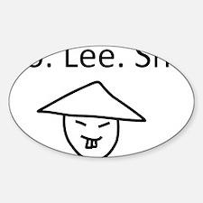 Ho Lee Shit / Holy Shit Sticker (Oval)