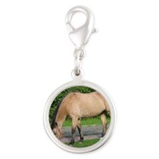 New Forest Pony Silver Round Charm