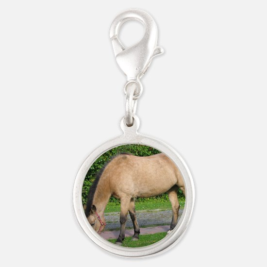 New Forest Pony Silver Round Charm
