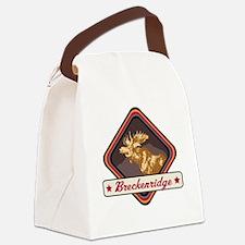 Breckenridge Pop-Moose Patch Canvas Lunch Bag