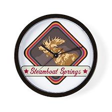 Steamboat Springs Pop-Moose Patch Wall Clock