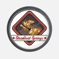 Steamboat Springs Pop-Moose Patch Wall Clock