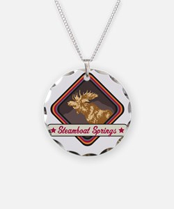 Steamboat Springs Pop-Moose  Necklace