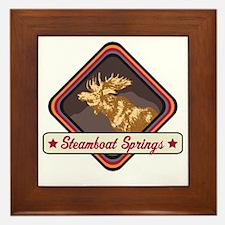 Steamboat Springs Pop-Moose Patch Framed Tile