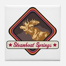 Steamboat Springs Pop-Moose Patch Tile Coaster