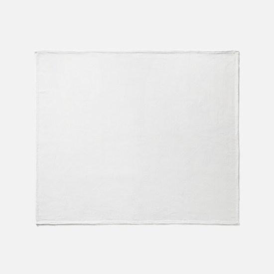 HeartzBeat EKG [WHITE] Throw Blanket