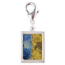 Van Gogh Wheatfield with Cro Silver Portrait Charm
