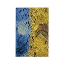 Van Gogh Wheatfield with Crows Rectangle Magnet