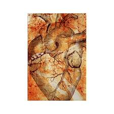 Unhealthy heart Rectangle Magnet