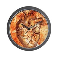 Unhealthy heart Wall Clock