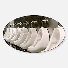 Urinals Sticker (Oval)