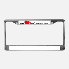 My Heart Belongs To Marth License Plate Frame